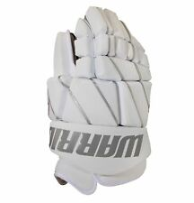 "New Warrior Burn Fatboy box lacrosse goalie gloves 12"" White Lax indoor goal"