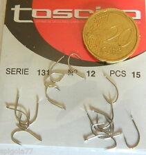 1 bustina di ami sarfix SERIE 131 TOSCIRO N° 12 X 15 AMI TROTA SPIGOLE  TS 3