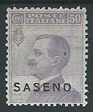 1923 SASENO EFFIGIE 50 CENT LUSSO MH * - G017
