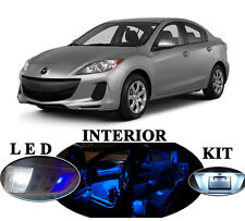 LED Package - Interior + License Plate + Vanity for Mazda 3 MS3 (10 Pcs)