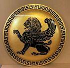 Antique Handmade Authentic Greek Hoplite GOLD LION Sign Halloween Costume