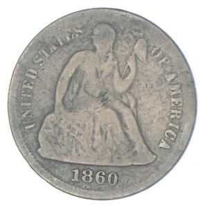 Historic 1860 Seated Liberty Dime *954