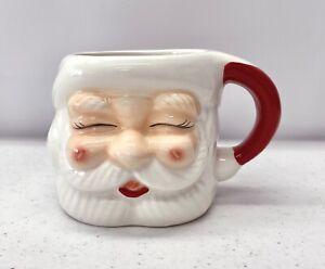 NEW Pottery Barn Santa Claus Shaped Handcrafted Ceramic 7oz. Christmas Mug #4