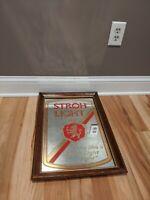 Stroh Light Beer Sign Mirror  Looks Like A Stroh Light Night Bar Advertisement
