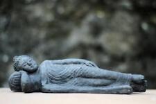 Liegender Buddha - 24 cm lang - Steinguss / Andesitguss - schwarz / black