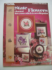 State Flowers for Cross Stitch & Needlepoint Pattern Leaflet 178 Leisure Arts