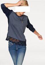 Sweatshirt mit Spitze, KangaROOS, Gr.44/46, 60%Baumwolle,40%Polyester, neu