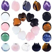 LongBeauty Stone Ear Plugs Double Flare Saddle Stretching Gauges Expander 6-16mm
