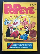 Popeye #127 (Four-Color, Dell, 1942) Quality Golden Age Comic Book - Fine