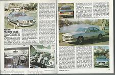 1979 BMW 635CSi road test, British article, 8 color photos BMW 635