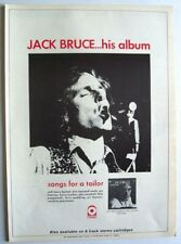 JACK BRUCE 1969 POSTER ADVERT SONGS FOR A TAILOR cream