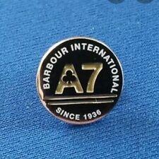 New Barbour A7 1936 Metal Pin Badge Motorcycle Car Coat Jacket Rare Silver