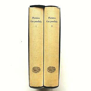 Plutarco Vite parallele 2 volumi in cofanetto Millenni Einaudi 1965 Illustrato