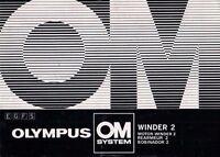 OLYMPUS OM System Winder 2 Motor-Winder 2 - Bedienungsanleitung Manual - B1956