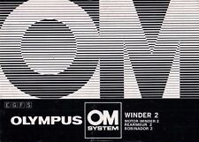 Olympus OM System Winder 2 Motor-Winder 2-manuale d'uso Manual-b1956