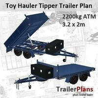 Trailer Plans - 3.2m TOY HAULER TIPPER TRAILER PLAN - PRINTED HARDCOPY