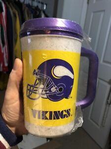 RARE NEW VINT. Aladdin MINNESOTA VIKINGS NFL 7 - 11 Insulated Mug Cup Thermos