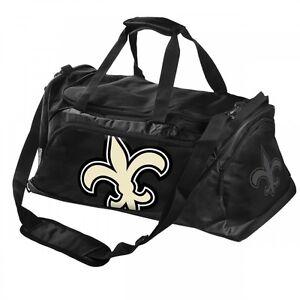 NFL Football New Orleans Saints Black Sports Bag Medium Duffle