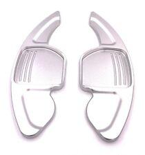 DSG Schaltwippen Shift Paddle TYP A für Seat Leon 5F, auch Cupra eloxiert Silber
