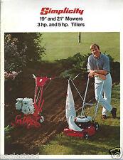 Equipment Brochure - Simplicity - Lawn Mower Garden Tiller (E2770)