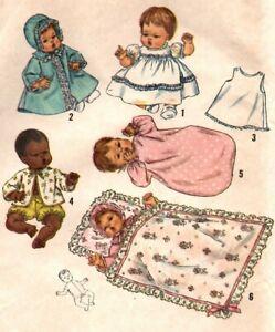 """Doll Clothing Pattern 4723 for 18"""" Thumbelina Baby Dear My Baby Tiny Talker"""