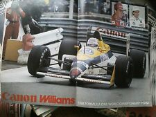Williams Mansell Patrese 1988 Double Page Poster Motor Racing GP Formula F1