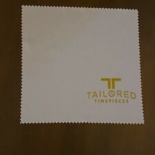 Tailored Timepieces Watch Cleaning Cloth white/Gold