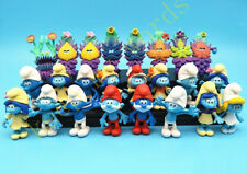 24 Pcs Smurf Clumsy The Lost Village Papa Action Figure Cake Topper Kid Toy Gift