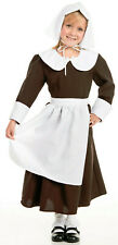 Pilgrim Girl Thanksgiving Costume complete with Bonnet Hat
