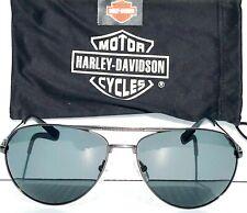 Nuevo * Harley-Davidson HD204 bronce de cañón W 63mm de aviador de Gafas de Sol Lente Gris