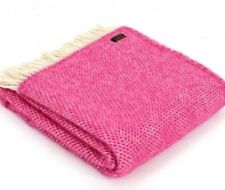 KNEE RUG / SMALL THROW Pure New Wool CERISE PINK HONEYCOMB Chair Blanket Rug