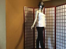 Billabong White Sleeveless Casual Cami Top Womens Apparel Sze S Cotton Garment