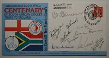 D'Olivera, Bacher, Pollock, Endean and others FDC centenary S Africa / England