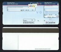 CANADIAN AIRLINES BOARDING PASS (1) CARTE D'ACCES A BORD UNUSED STOCK 1990'S