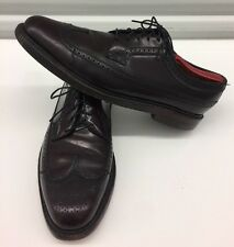 FLORSHEIM ROYAL IMPERIAL SHELL CORDOVAN BURGUNDY WINGTIP SHOES MENS SZ 10.5 D