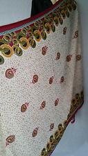 Stola Schal Tuch Bollywood Indisch Dupatta Stoff Sari Goa Hippie 103cm x 192cm