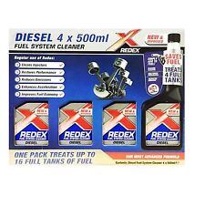 NEW - 4 X 500ML REDEX DIESEL FUEL SYSTEM CLEANER INJECTOR FOR CARS VAN ENGINES