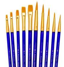 Brush Set x 10 Cake Decorating Brushes Lustre Brushes Flat Brushes Round Brushes