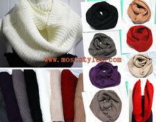 New Urban Fashion Women Scarf Winter Warm Crochet Infinity Circle Loop Wrap