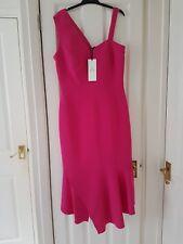 Karen Millen Peplum One Shoulder Dress Size 10