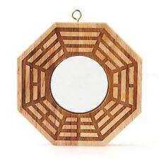 """4"""" Peach Wood Feng Shui Bagua Pakua Mirror Convex Fortune Tai Chi Yin Yang"""