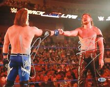 AJ Styles & Shinsuke Nakamura Signed 11x14 Photo BAS COA WWE New Japan Autograph