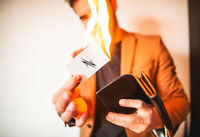PYRO Wallet by Adam Wilber Magic Tricks Close Up Illusions Gimmick Fire Wallet