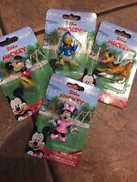 Disney Junior Figurines, Lot Of 4, Mickey, Minnie, Pluto, Donald