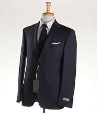 NWT $1995 CANALI 1934 Charcoal Gray-Blue Fine Stripe Wool Suit 46 R Modern-Fit
