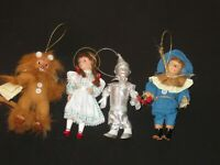 Wizard of Oz Christmas Tree Ornaments Tin Man Lion Scarecrow Dorothy (D69)
