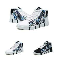 Men's Sport Running High Top Floral Breathable Outdoor Casual Board Street Shoes