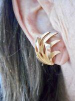 Authentic Vintage 1950's Gold Tone Crown Trifari Clip Earrings