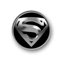 "SUPERMAN / 1"" / 25mm pin button / badge / DC Comics / film / movie / red cape"