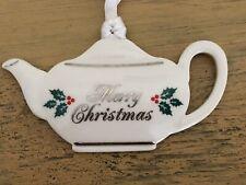Wedgwood Teapot Merry Christmas Ornament
